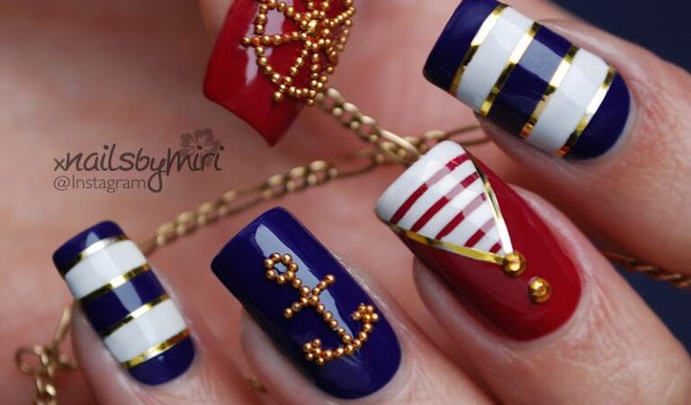 15 Nautical Nail Designs To Copy This Summer