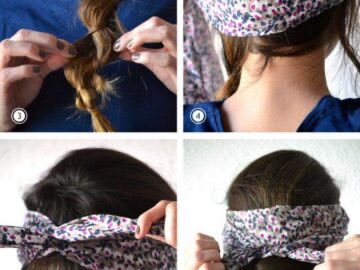 c2d1d lateral messy braid steps 360x270 - 8 Easy Hair Tutorials With Bandana