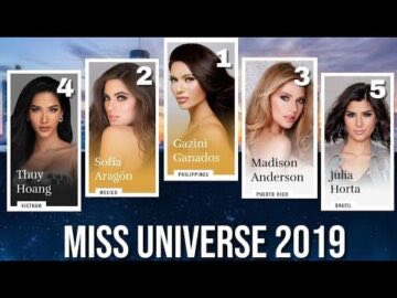 TOP 10 EARLY FAVOURITES NOVEMBER EDITION MISS UNIVERSE 360x270 - TOP 10 EARLY FAVOURITES - NOVEMBER EDITION - MISS UNIVERSE 2019